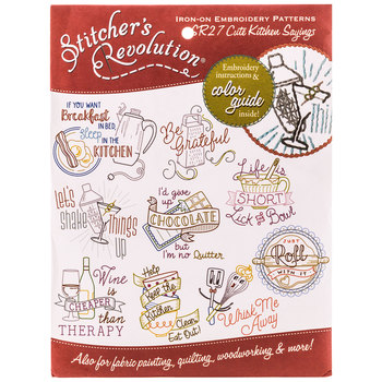 Cute Kitchen Sayings Iron-On Embroidery Patterns